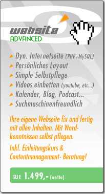 Webdesign Advanced Angebot