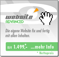 Webdesign Advanced - Angebot EUR 1499,-
