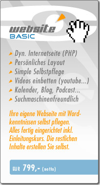 Webdesign Basic Angebot